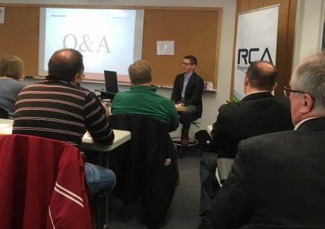 Braden Marianchuk speaks to Regina Construction Association