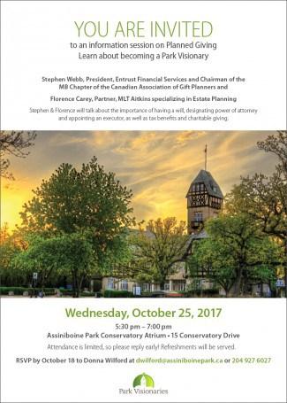 Assiniboine Park Oct 25, 2017 Event Flyer