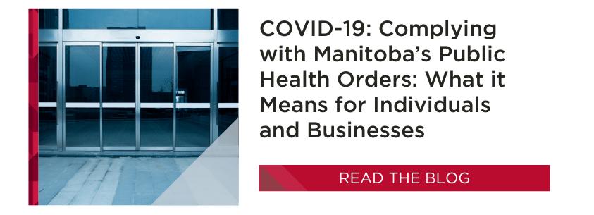 MB Public Health Orders   COVID-19