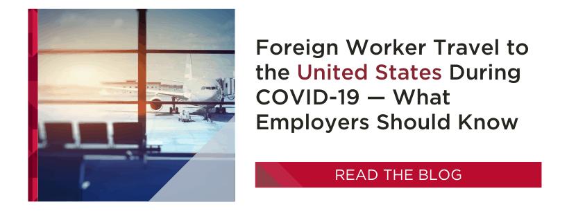 COVID-19 U.S. Travel Restrictions