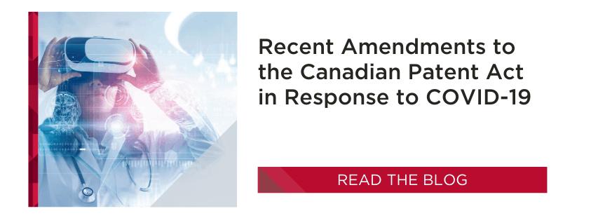 Amendments to Patents Act Canada